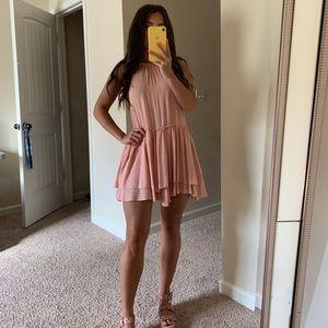 Pink boutique mini dress
